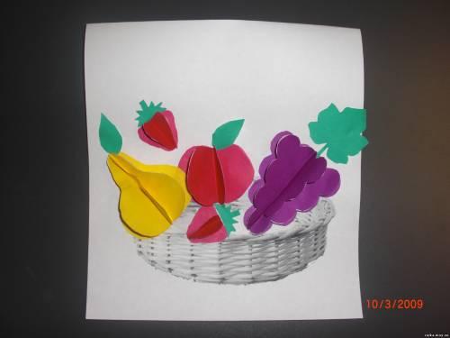 Поделка фрукты и овощи из бумаги своими руками